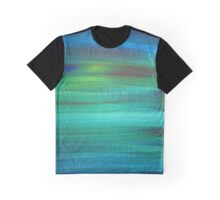 Abstract Blue Green Painting Graphic T-Shirt