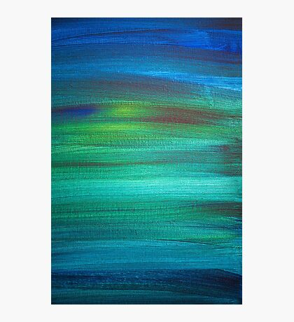 Abstract Blue Green Painting Photographic Print