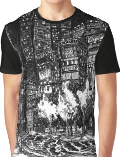 Sitting by the Road in the Rain and Witnessing the Tepid  Darkness Graphic T-Shirt