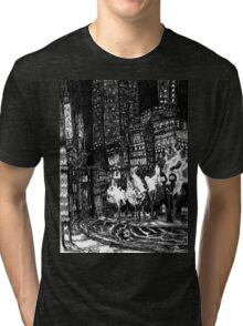 Sitting by the Road in the Rain and Witnessing the Tepid  Darkness Tri-blend T-Shirt