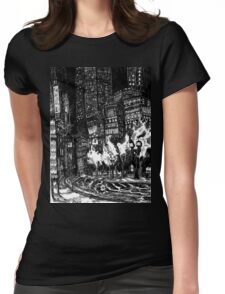 Sitting by the Road in the Rain and Witnessing the Tepid  Darkness Womens Fitted T-Shirt