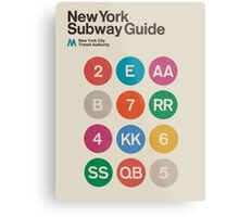 NYC Subway Guide Metal Print