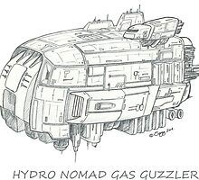 Concept Ship 'Hydro Nomad' by Sargy001