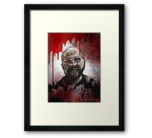 Blood Splatter Zombie Framed Print