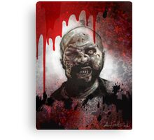 Blood Splatter Zombie Canvas Print