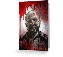 Blood Splatter Zombie Greeting Card