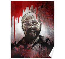 Blood Splatter Zombie Poster
