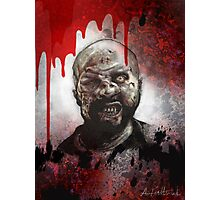 Blood Splatter Zombie Photographic Print