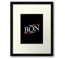BON / Black Framed Print