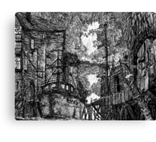 Lucy Rests In The Swelling Darkness Canvas Print