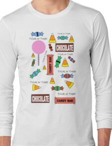 Halloween Candy Explosion Long Sleeve T-Shirt