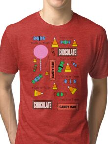 Halloween Candy Explosion Tri-blend T-Shirt