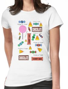 Halloween Candy Explosion Womens Fitted T-Shirt