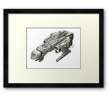 Concept Ship 'Kurai Sora' Framed Print