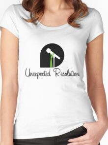 Unexpected Resolution Black Logo 2016 Women's Fitted Scoop T-Shirt