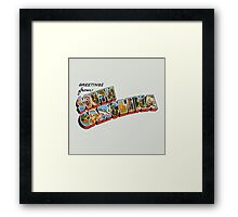 """Greetings from South Carolina"" Framed Print"