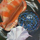 Shells and Paperweight Still Life by Jane Ianniello