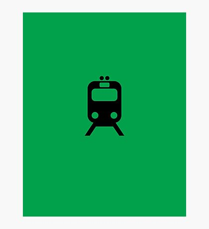 Chicago Commuter CTA Inspired Green Line Minimalism Design Photographic Print