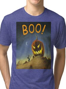 BOO! It's the Great Pumpkin Farmer Brown Tri-blend T-Shirt