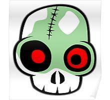 Zombie Head Poster