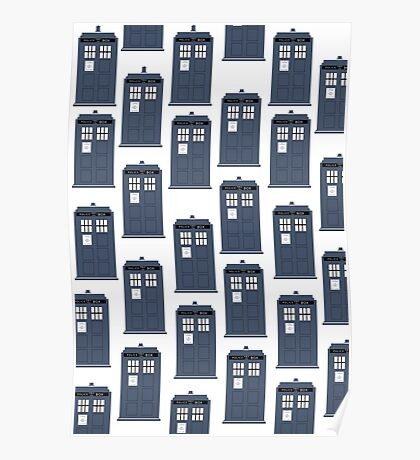 Doctor WHO Tardis Pattern Poster