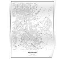 Brisbane, Australia, Minimalist Map Poster