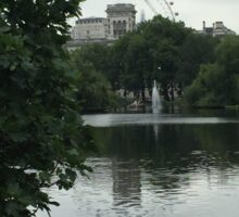 Beautiful view of the London eye Sticker