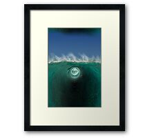 Time Traveling Wave Into Another Inter-Dimensional World Framed Print