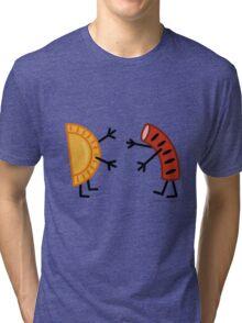 Pierogi & Kielbasa - Funny Friendly Foods Tri-blend T-Shirt
