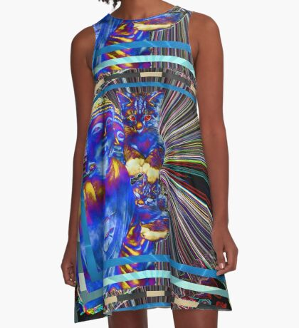 Lucy Loves Buddha Electric A-Line Dress