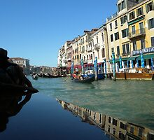 Reflections in Venice Canal_Italy. by Kay Cunningham