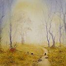 Misty pathway by Neil Jones