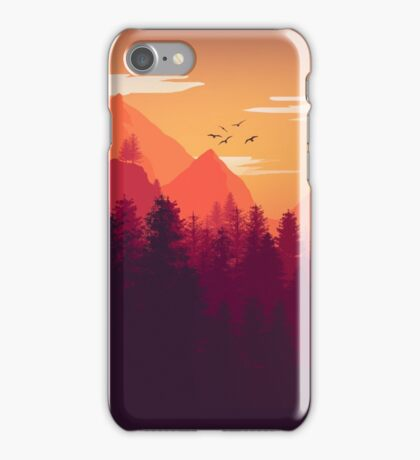 Firewatch Art Design - 4k  iPhone Case/Skin