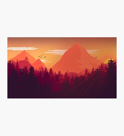 Firewatch Art Design - 4k  Photographic Print