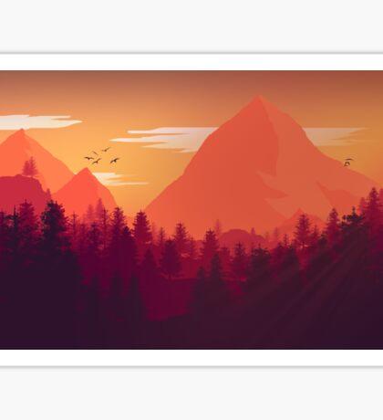 Firewatch Art Design - 4k  Sticker