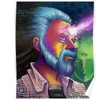 Phillip K. Dick Portrait Poster