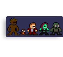 8-bit Guardians of the Galaxy Canvas Print