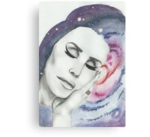 Lana Del Rey on Galaxy Background Canvas Print