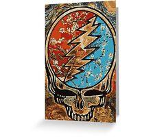 Great dead - deadhead lightening skull Greeting Card