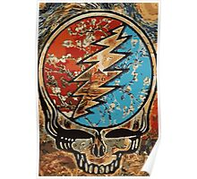 Great dead - deadhead lightening skull Poster