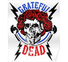 Grateful Dead -skull roses Poster