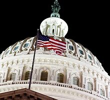 US Capitol Building at Night by danbwr