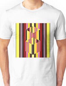 Cubes on Stripes Illusion Unisex T-Shirt