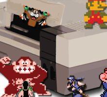 Nintendo 8-bit retro throwback Sticker