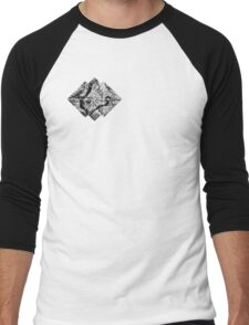 black and white tree logo Men's Baseball ¾ T-Shirt