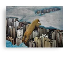 City Bear Canvas Print