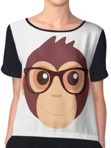 Hipster Chimp Chiffon Top