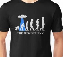 Human Evolution By Aliens Missing Link Unisex T-Shirt