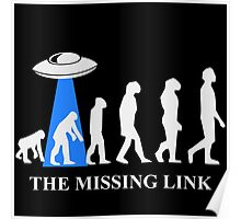 Human Evolution By Aliens Missing Link Poster