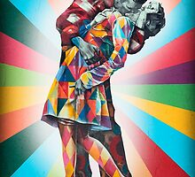 New York's Colorful Kiss in 1945 by teelangie